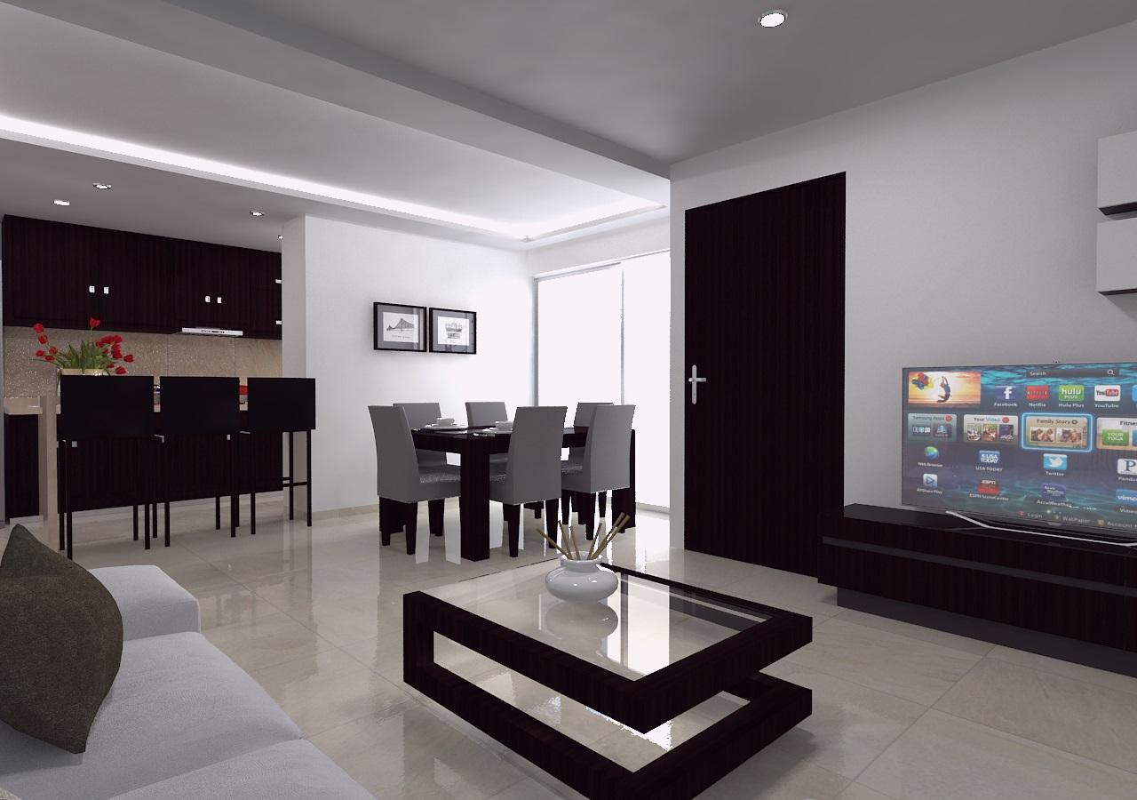 Modernos y lujosos departamentos en av popocat petl eje for Decoracion para apartamentos modernos